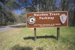 Sosta nazionale della traccia di Natchez fotografia stock libera da diritti