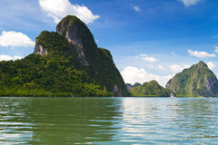 Sosta nazionale di Ao Phang Nga Fotografia Stock Libera da Diritti