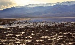 Sosta nazionale di Badwater Death Valley Immagini Stock Libere da Diritti