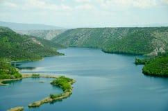 Sosta nazionale di Krka, Croatia Fotografia Stock