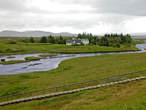 Sosta nazionale di Pingvellir, Islanda immagine stock