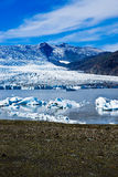 Sosta nazionale di Skaftafell, ghiacciaio Fotografia Stock Libera da Diritti