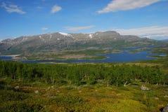 Sosta nazionale di Stora Sjöfallets Fotografie Stock
