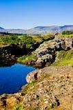 Sosta nazionale di Thingvellir in Islanda Fotografie Stock Libere da Diritti