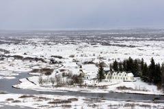 Sosta nazionale di Thingvellir, Islanda Immagine Stock