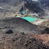 Sosta nazionale di Tongariro dei laghi verde smeraldo, Nuova Zelanda Immagine Stock