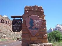Sosta nazionale di Zion, Utah Fotografia Stock