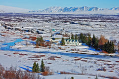 Sosta nazionale Islanda di Thingvellir Immagini Stock