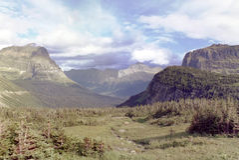 sosta nazionale S.U.A. del Montana del ghiacciaio Immagine Stock Libera da Diritti