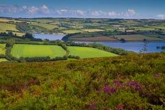 Sosta nazionale Somerset di Exmoor del lago Wimbleball Fotografie Stock Libere da Diritti