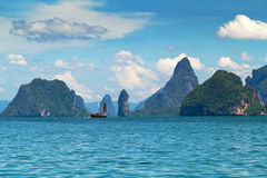 Sosta nazionale sulla baia di Phang Nga in Tailandia Immagini Stock