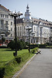 sosta nel centro di Cluj-Napoca Fotografia Stock