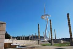 Sosta olimpica a Barcellona Fotografia Stock Libera da Diritti