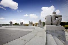 Sosta Oslo della statua Immagini Stock