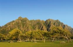 Sosta regionale della spiaggia di Kualoa, Hawai Fotografie Stock Libere da Diritti