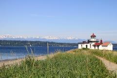 Sosta Seattle di scoperta del faro di West Point fotografie stock libere da diritti
