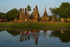 Sosta storica di Sukhothai, Nord della Tailandia Fotografia Stock Libera da Diritti