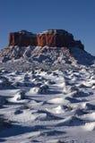 Sosta tribale dell'indiano di Navajo della valle del monumento, inverno Fotografie Stock