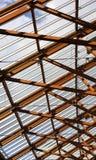 Sostegni del tetto di legno interni Fotografia Stock Libera da Diritti