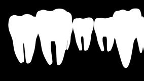 Sostegni e impianto del dente illustrazione di stock