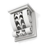 Sostegno architettonico decorativo su fondo bianco 3 Fotografia Stock Libera da Diritti