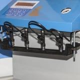 Sostegno per banchi per gli ugelli di pulizia di iniezione di carburante fotografia stock libera da diritti