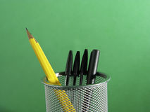 Sostenedor 2 de la pluma y del lápiz Fotos de archivo libres de regalías