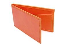 Sostenedor anaranjado de la tarjeta de visita Imágenes de archivo libres de regalías