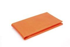 Sostenedor anaranjado de la tarjeta de visita Fotos de archivo libres de regalías