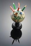 Sostenedor antiguo de la pluma del globo Imagen de archivo libre de regalías