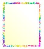 Sostenedor colorido del mensaje del marco Foto de archivo libre de regalías