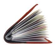Sostenedor de cuero de la tarjeta de visita Fotografía de archivo libre de regalías
