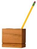 Sostenedor de escritorio del organizador del lápiz del espacio de trabajo de la oficina Imagen de archivo libre de regalías