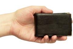 Sostenedor de la tarjeta de visita (camino de recortes aislado) Imágenes de archivo libres de regalías