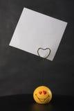 Sostenedor para los mensajes del amor imagenes de archivo
