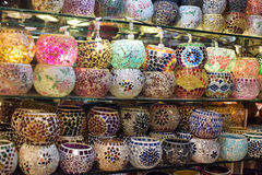 Sostenedores de vela coloridos Foto de archivo libre de regalías