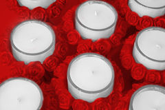 Sostenedores de vela de Rose Foto de archivo libre de regalías