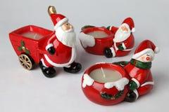 Sostenedores de vela para la Navidad 4 Imagen de archivo libre de regalías