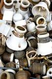 Sostenedores viejos de la lámpara Imagenes de archivo