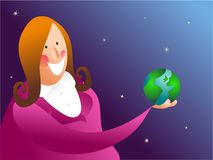 Sostener el mundo stock de ilustración