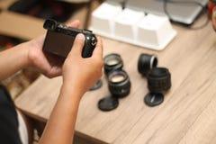 Sostener la cámara, versión 9 foto de archivo libre de regalías