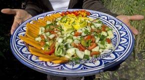 Sostener la ensalada del verano Imagen de archivo