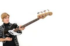 Sostener la guitarra baja Foto de archivo