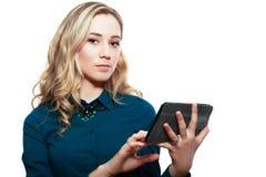 Sostener la PC de la tableta Fotografía de archivo libre de regalías