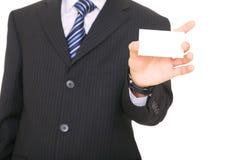 Sostener la tarjeta de visita vacía Fotos de archivo