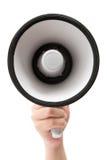 Sostener un megáfono Fotografía de archivo libre de regalías