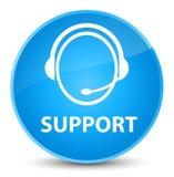 Sostenga (icona di cura del cliente) il ciano bottone rotondo blu elegante illustrazione vettoriale