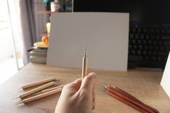 Sostenga la herramienta de la escultura, área del lugar de trabajo Imagen de archivo libre de regalías