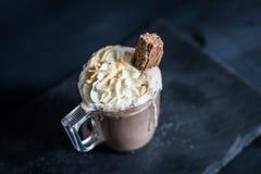 Sostenido del chocolate caliente Imagen de archivo libre de regalías