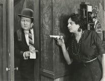 Sostenido a punta de pistola Fotos de archivo